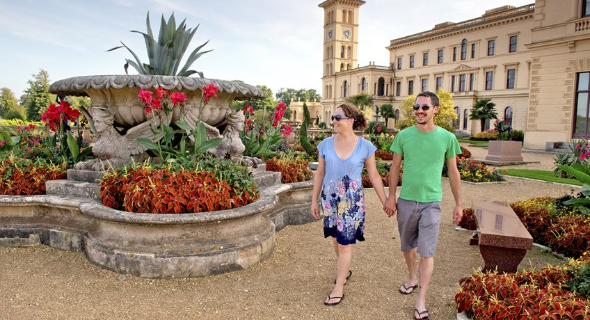Osborne House - terrace walking