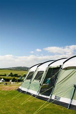 Whitecliff Bay Holiday Park camping, Bembridge Isle of Wight