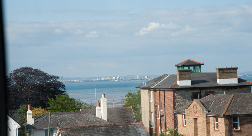 Dorset House bedroom view, Ryde, Isle of Wight