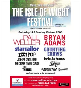 2003 Isle of Wight Festival Headliners