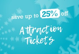 Save 25% off attractions