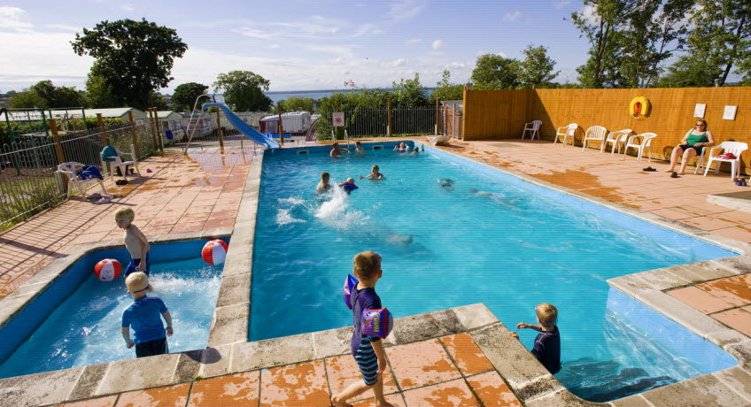 Waverley Holiday Park Centre pool, East Cowes Isle of Wight