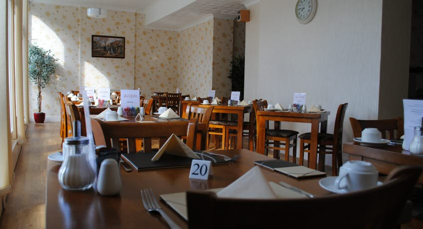The Belmont breakfast room, Shanklin Isle of Wight