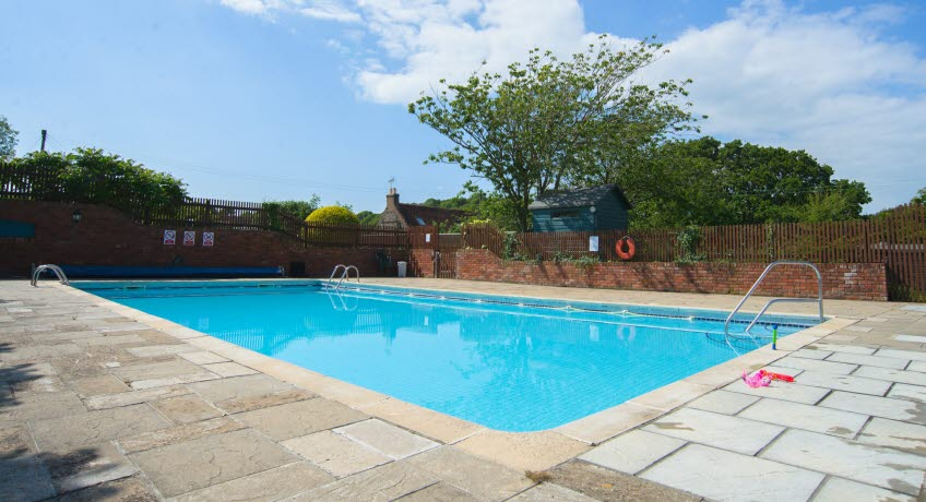 Ninham  Country Holidays Swimming pool, Shanklin Isle of Wight