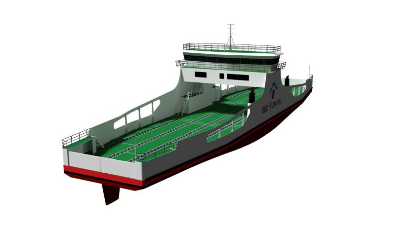 Freight ferry side profile