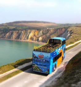 Southern Vectis bus at the Needles