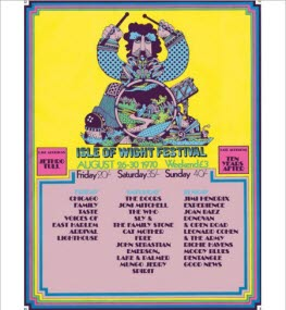 1970 Isle of Wight Festival Poster