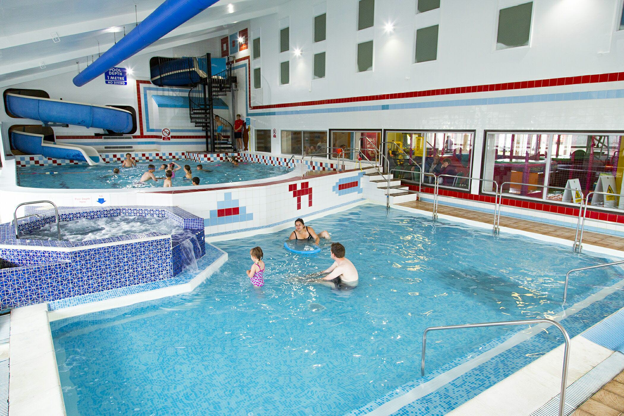 Whitecliff Bay Holiday Park indoor pool, Bembridge Isle of Wight