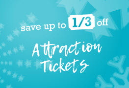 Save up to 1/3 off attraction tickets