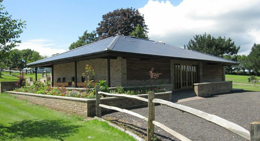 Appuldurcombe Gardens Holiday Park facilities block, Wroxall Isle of Wight