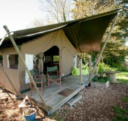 Safari Tent at Tapnell Farm Yarmouth Isle of Wight