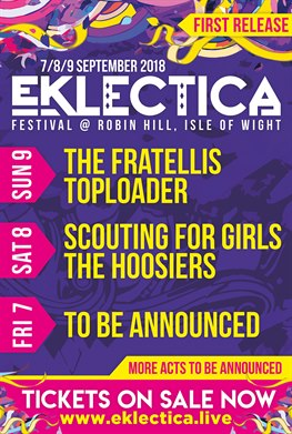 Eklectica 2018 Line Up First Release