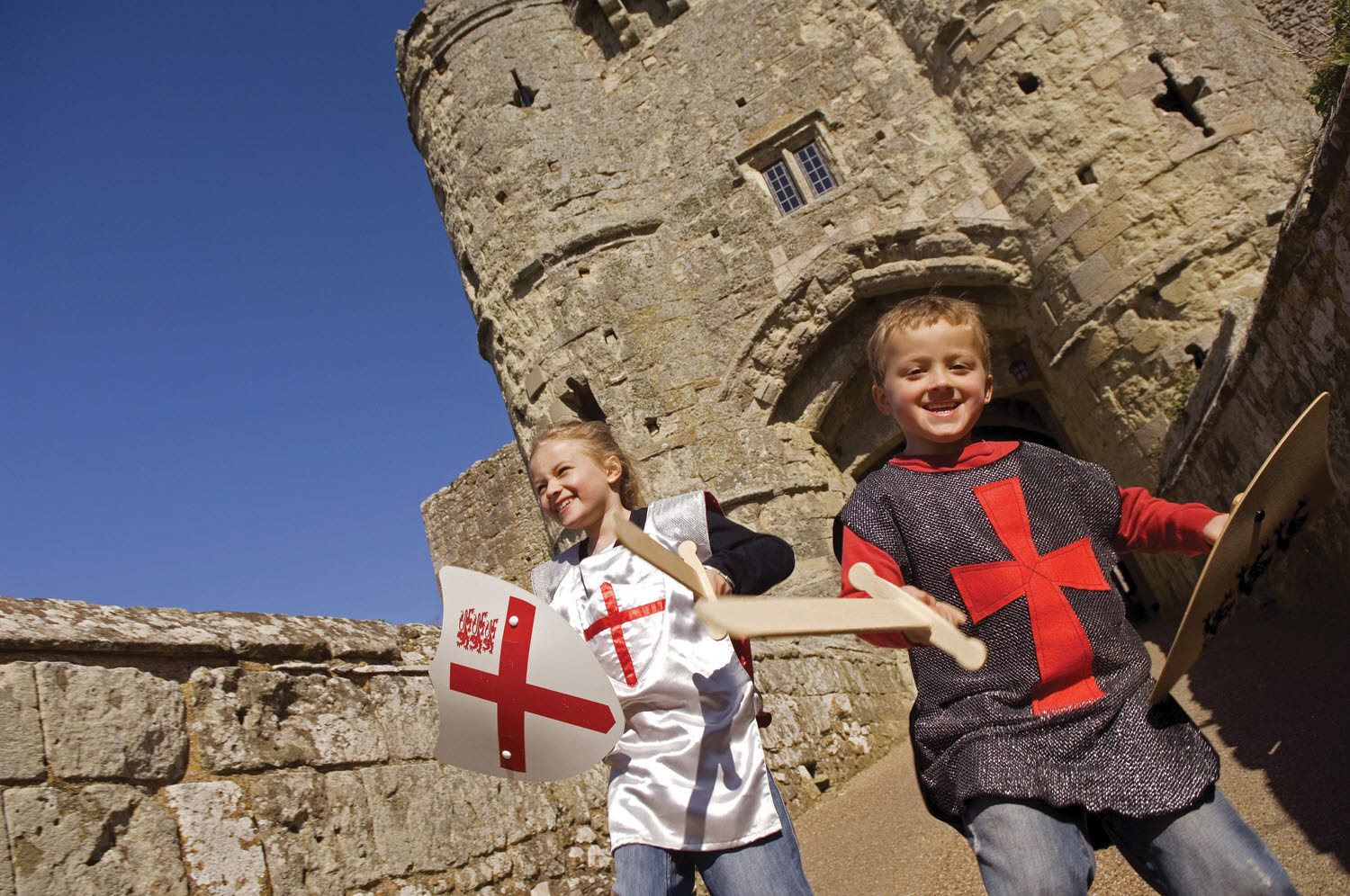 Carisbrooke Castle children