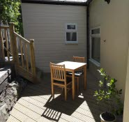 Brunswick Holiday Apts, secluded decking Ventnor Isle of Wight