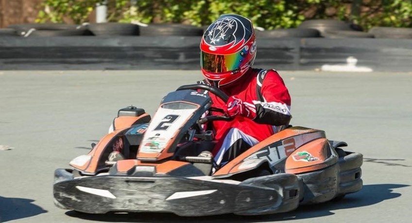 Wight Karting - lone karter