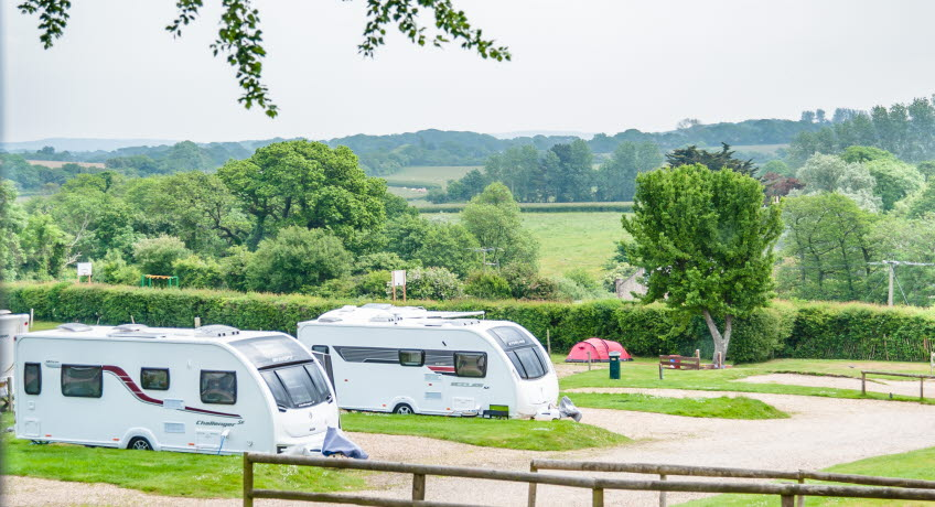 The Orchards Holiday Park tourers, Newbridge, Isle of Wight