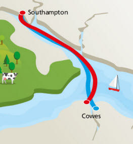 Red Funnel Route Map