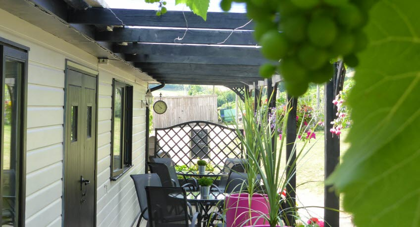 Adgestone Vineyard patio,  Sandown Isle of Wight