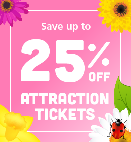 Special Offer - Save up to 25% off attraction tickets