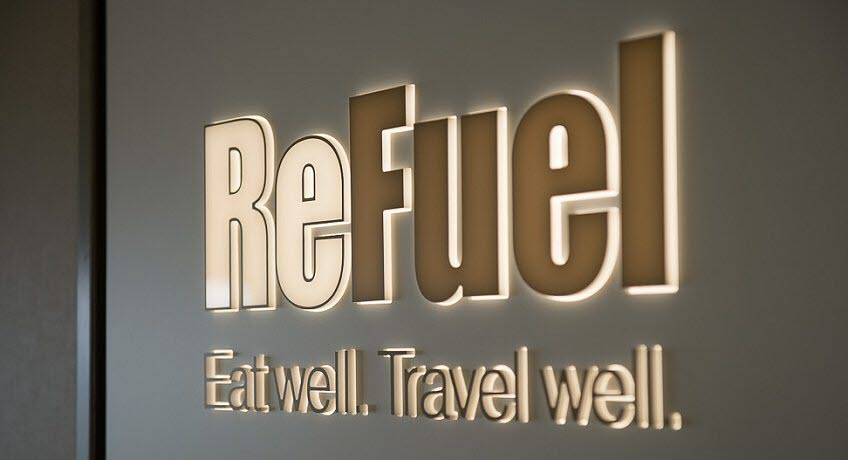 ReFuel sign on Red Osprey