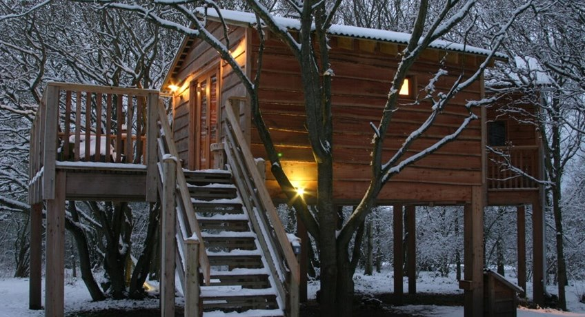 Treehouse - external- snow