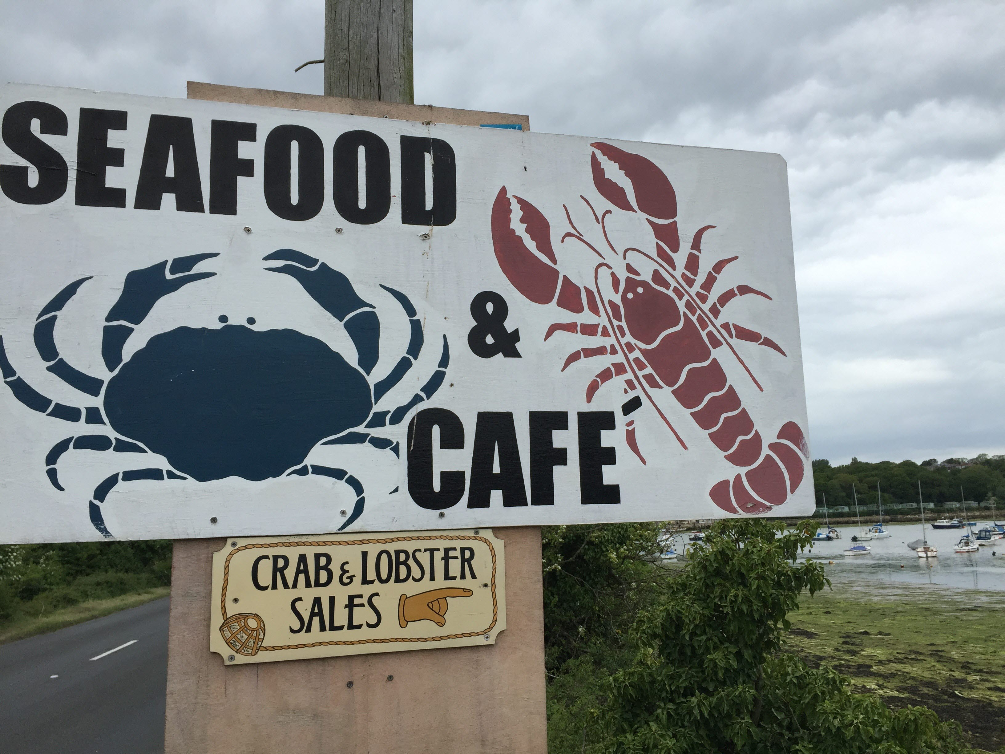 Seafood Lobster Sign