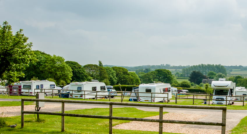 The Orchards Holiday Park motorhomes, Newbridge, Isle of Wight