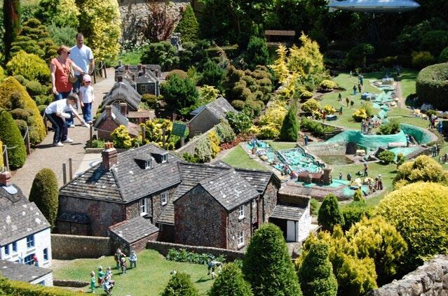 Godshill Model Village Isle of Wight family