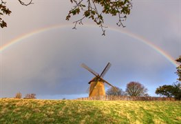 Bembridge Windmill Isle of Wight rainbow