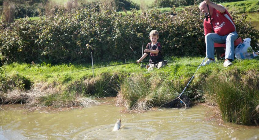 Nettlecombe Farm fishng lake, Whitwell Isle of Wight