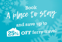 Save up to 25% off ferry travel