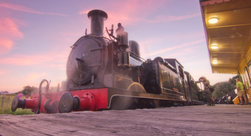 Isle of Wight Steam Railway sunrise