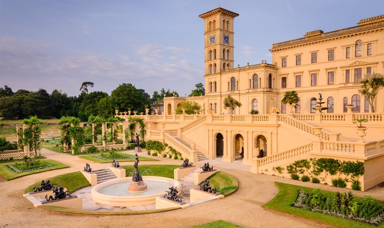 Osborne House - terrace and fountain