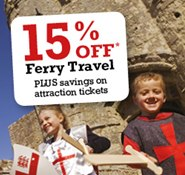 15% Off Ferry Travel & Savings on Attraction Tickets