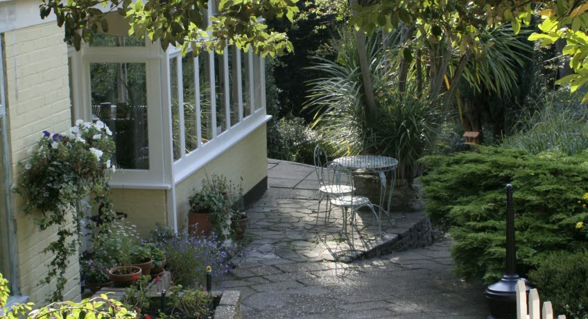 Bedfrod Lodge patio, Shanklin Isle of Wight