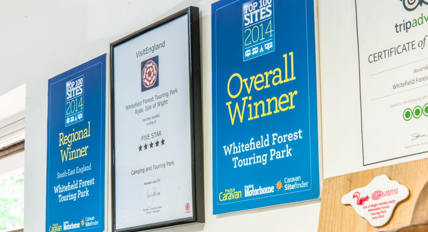 Whitefield Forest Touring Park Awards, Ryde, Isle of Wight