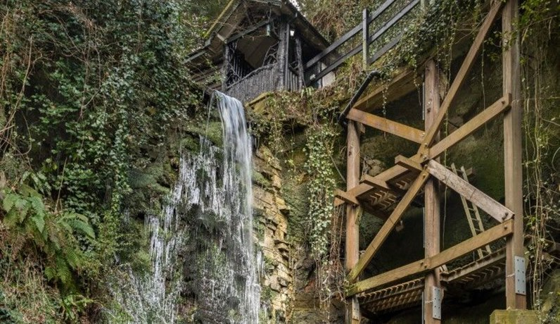 Shanklin Chine - top of waterfall