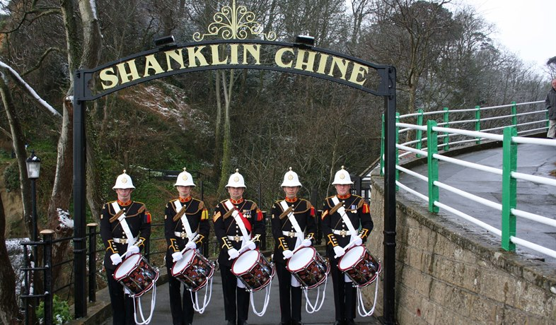 Shanklin Chine - marines