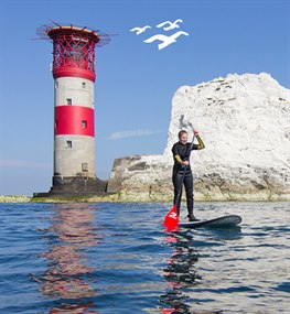 Stand Up Paddleboarding at the Needles