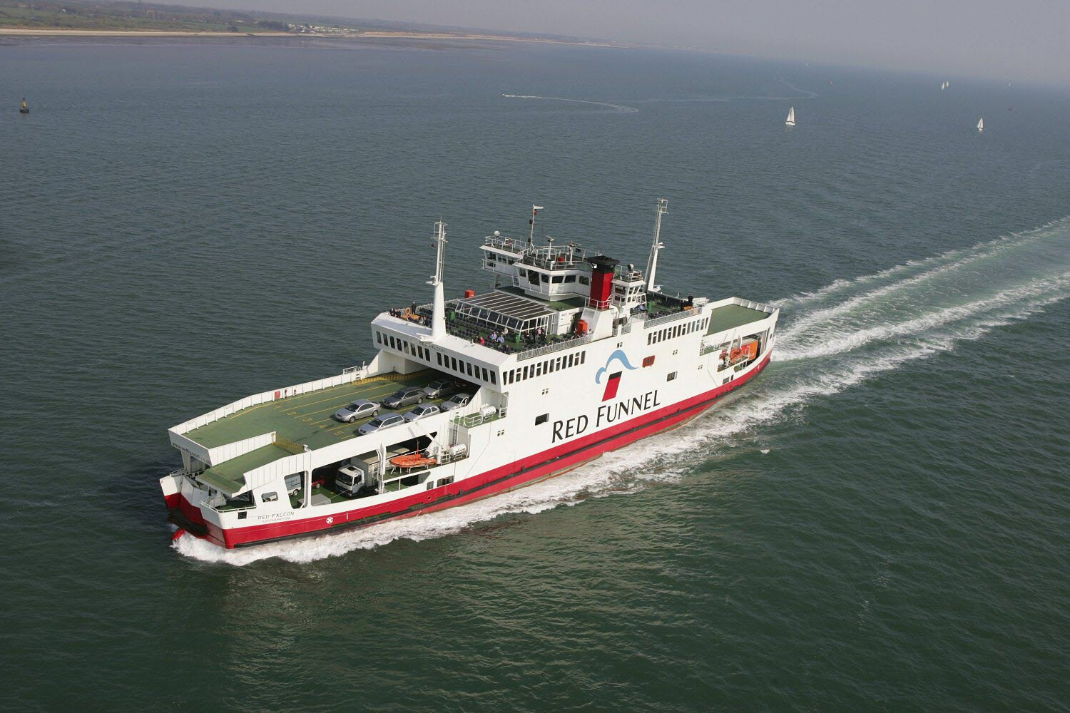 Red Falcon ferry at sea
