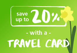 Save up to 20% with a Travel Card