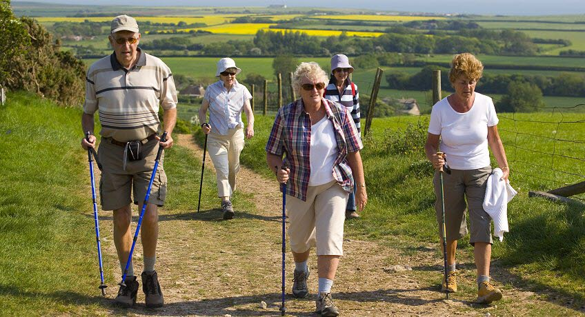 Isle of Wight Walking Festival walkers