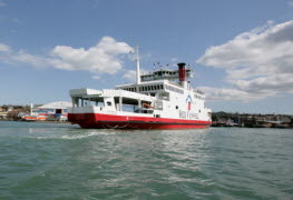 Red Eagle Departing East Cowes, Isle of Wight