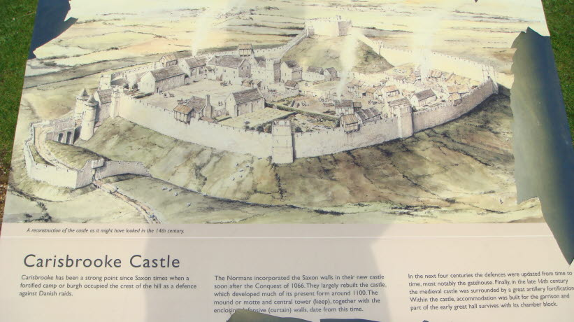 map of carisbrooke castle