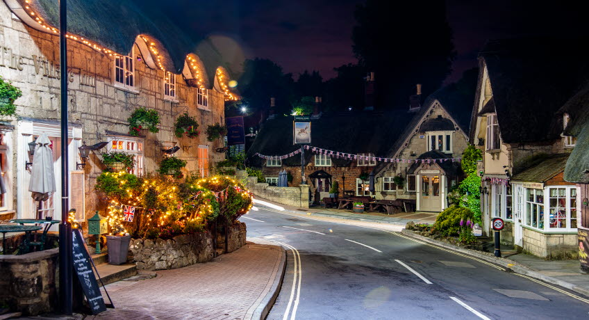Holliers Hotel nightime view, Shanklin, Isle of Wight
