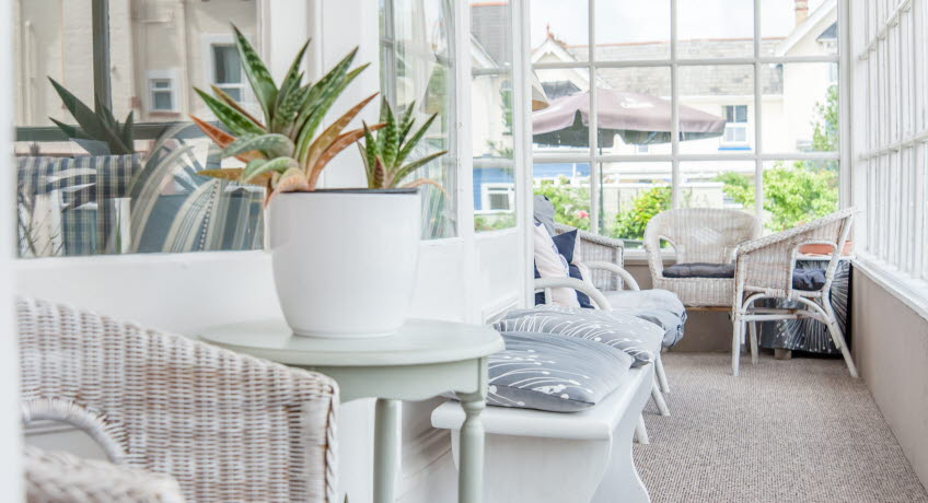 Marlborough Hotel conservatory, Shanklin, Isle of Wight