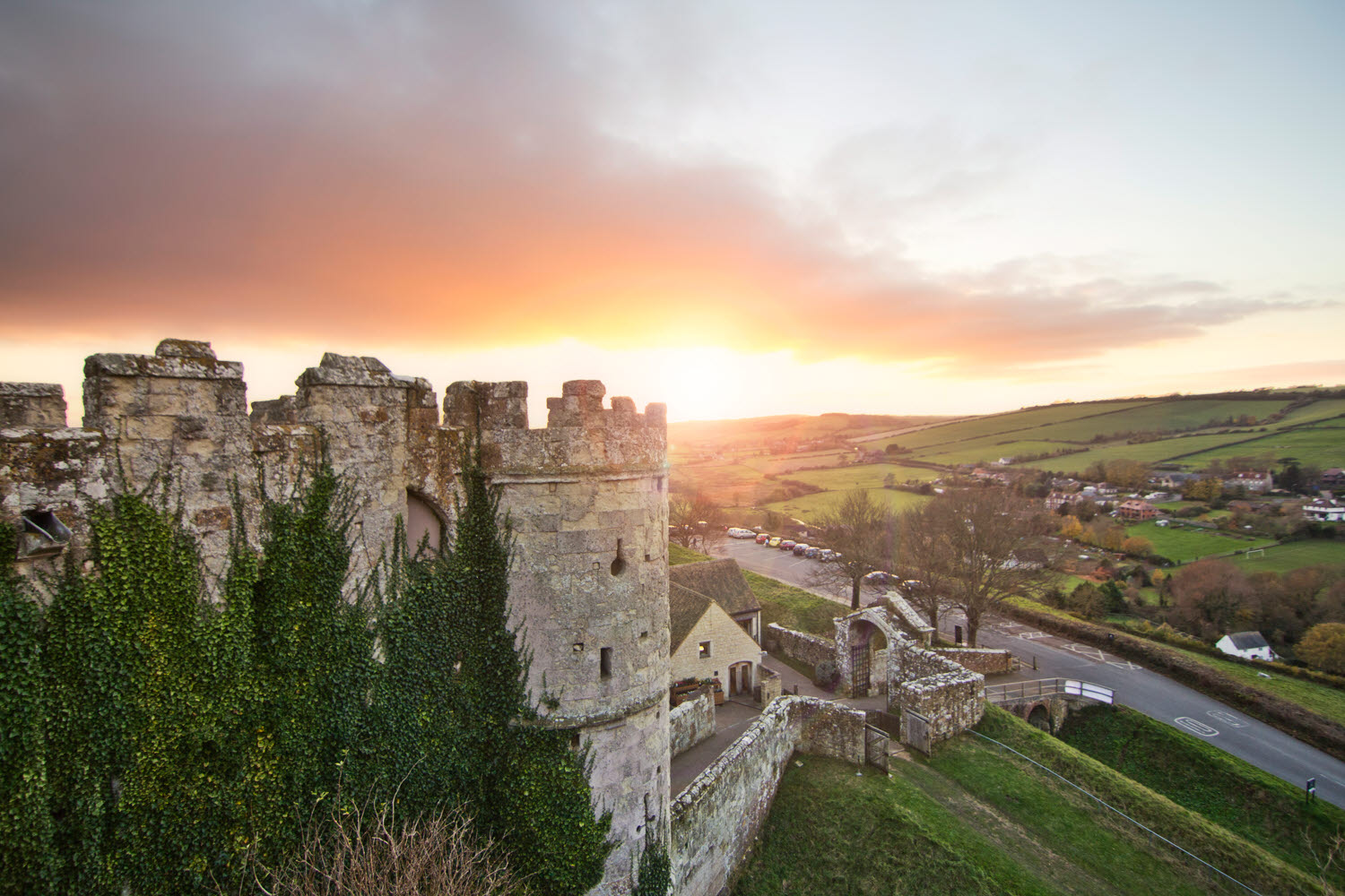 Carisbrooke Castle sunset