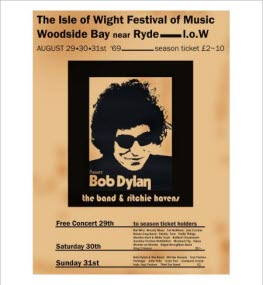 1969 Isle of Wight Festival Poster