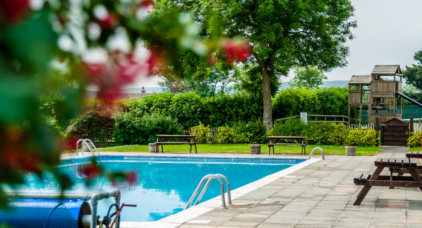 The Orchards Holiday Park outdoor pool, Newbridge, Isle of Wight